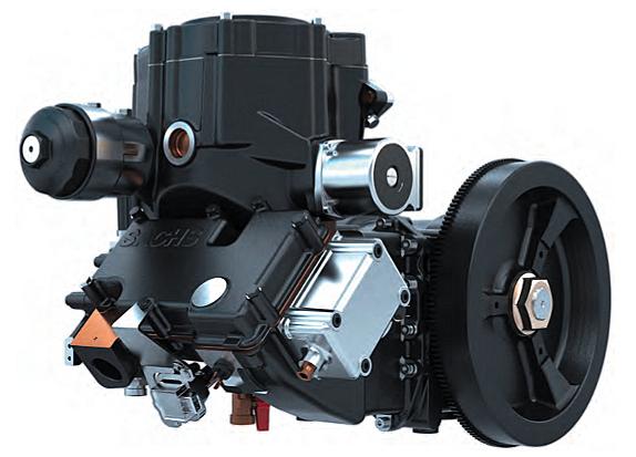 Das Herzstück bildet beim Dachs der Motor, der einen Asynchron-Generator antreibt  Bild: SenerTec